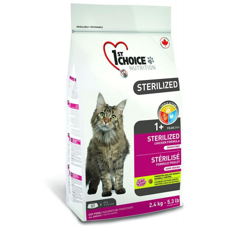 Сухой корм для кошек 1st Choice Sterilized Cat 2,4 кг