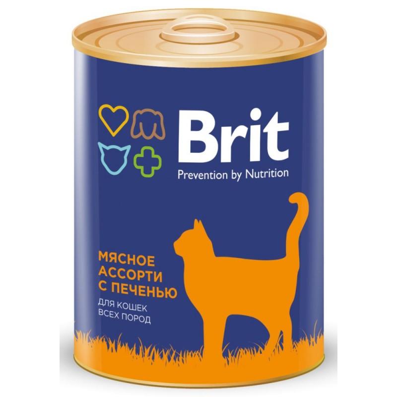 Влажный корм для кошек Brit Beef And Liver Medley 0,34 кг