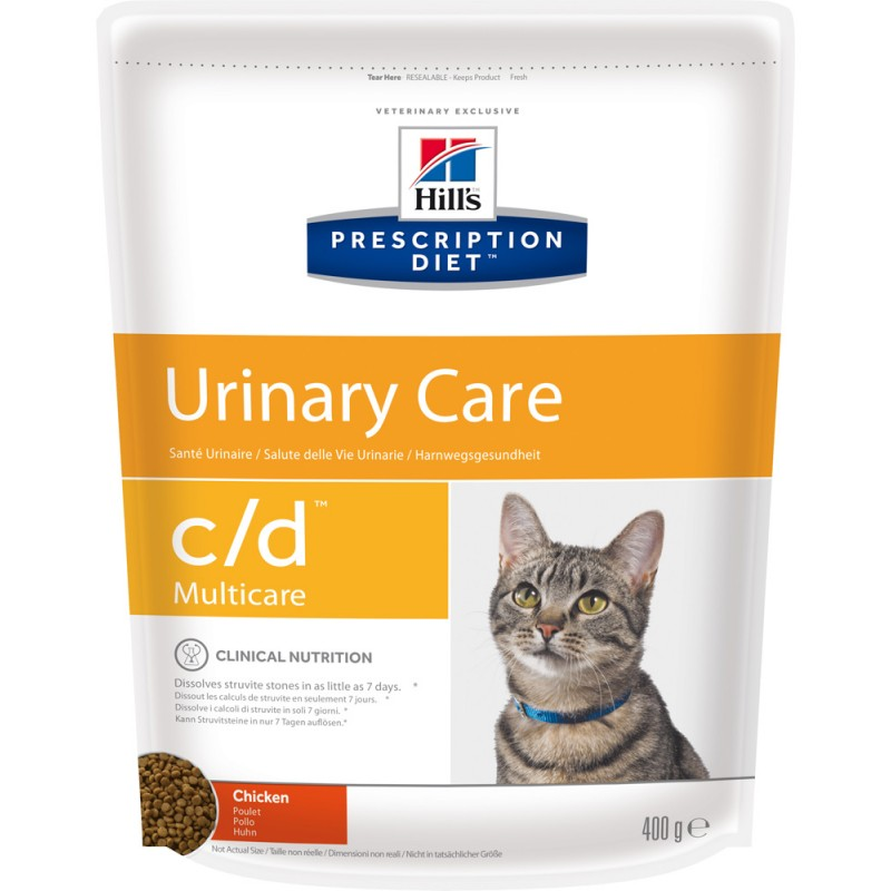 Сухой корм Hills Prescription Diet c/d Feline Multicare with Chicken диета для кошек 0,4 кг