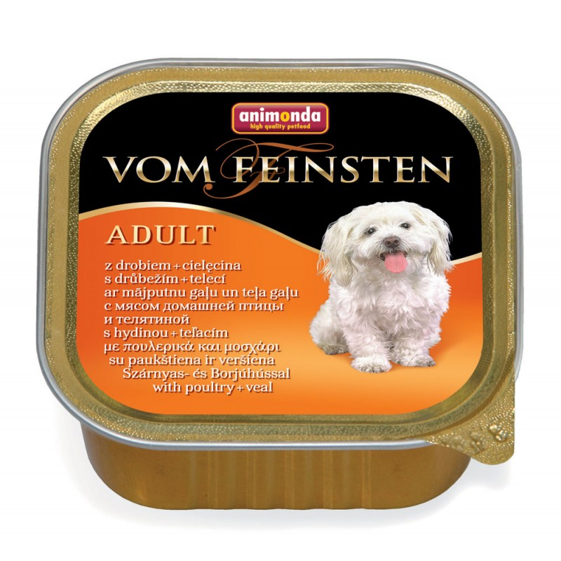 Влажный корм для собак Animonda Vom Feinsten Adult с мясом домашней птицы и телятиной 0,15 кг