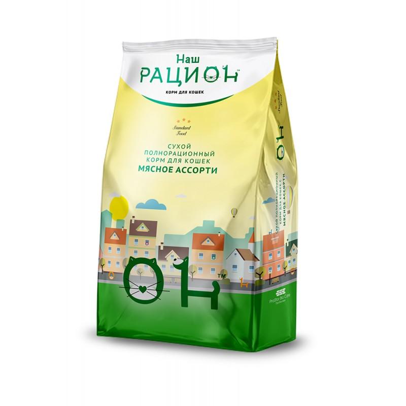 Сухой корм для кошек Наш Рацион Мясное ассорти 1,5 кг