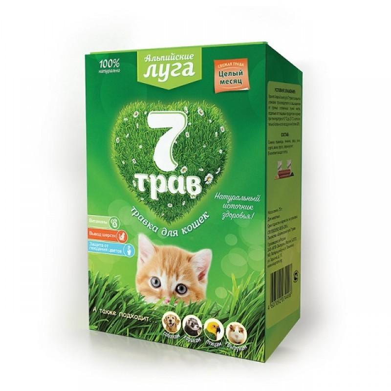 Лакомство для кошек Альпийские Луга Травка лоток 0,13 кг
