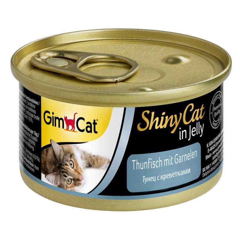 Влажный корм для кошек Gimborn Shiny Cat с Тунцом и Креветками 0,07 кг