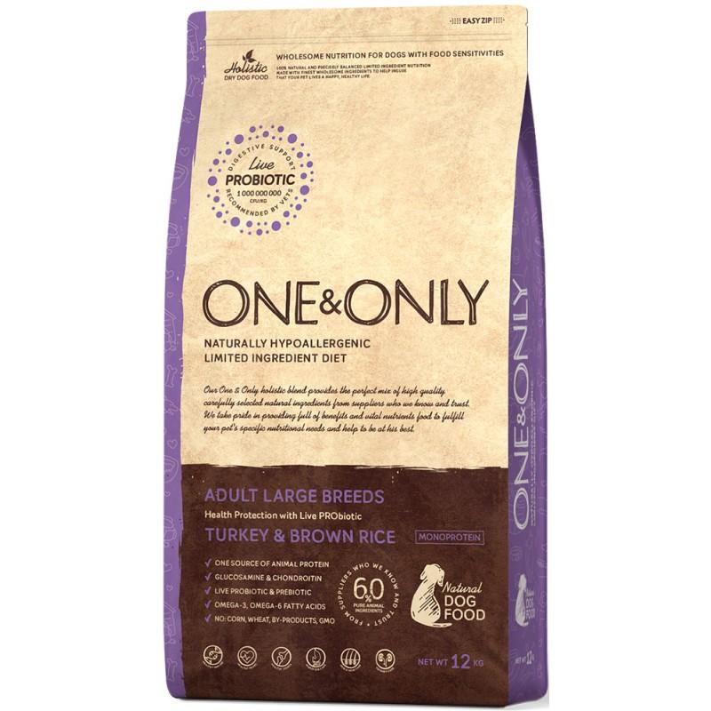 Сухой корм для собак One&Only Turkey & Rice Adult Large Breeds 12 кг