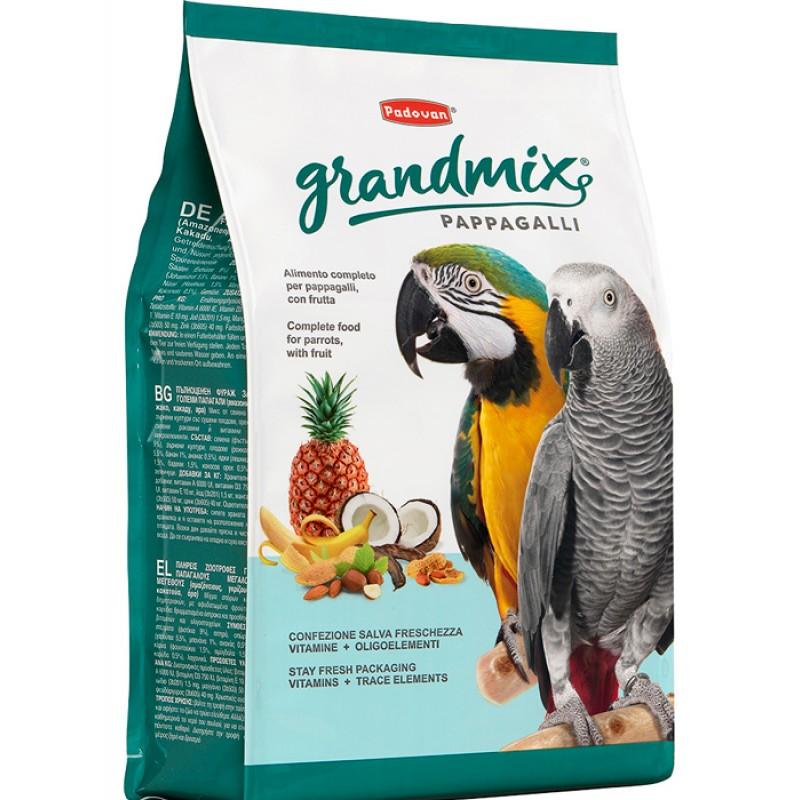 Сухой корм для попугаев Padovan Grandmix Pappagalli комплексный 2 кг