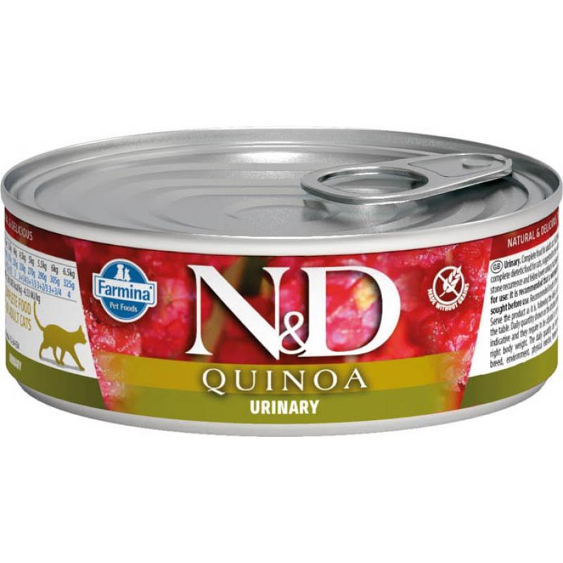 Влажный корм для кошек Farmina N & D Quinoa Urinary с киноа для профилактики Мкб 0,08 кг