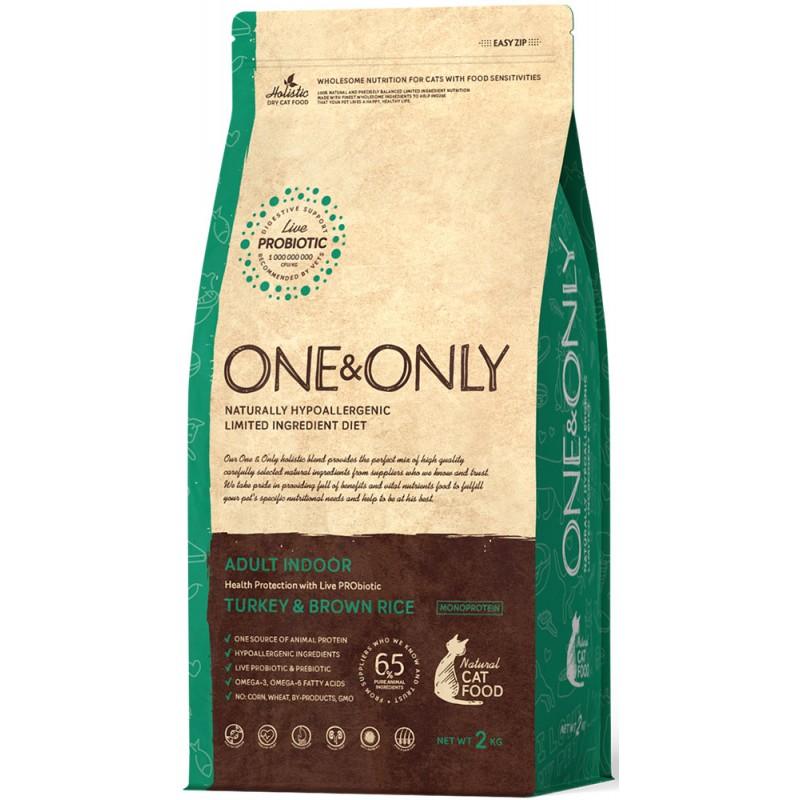 Сухой корм для кошек One&Only Turkey & Rice Adult Indoor 2 кг