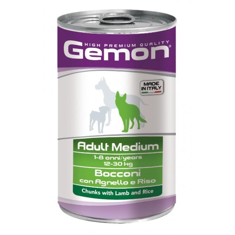 Влажный корм для собак Gemon Dog Medium кусочки ягненка с рисом для средних пород 1,25 кг