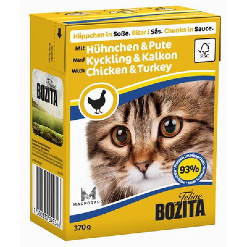 Влажный корм для кошек Bozita Feline Chicken&Turkey кусочки в соусе 0,37 кг