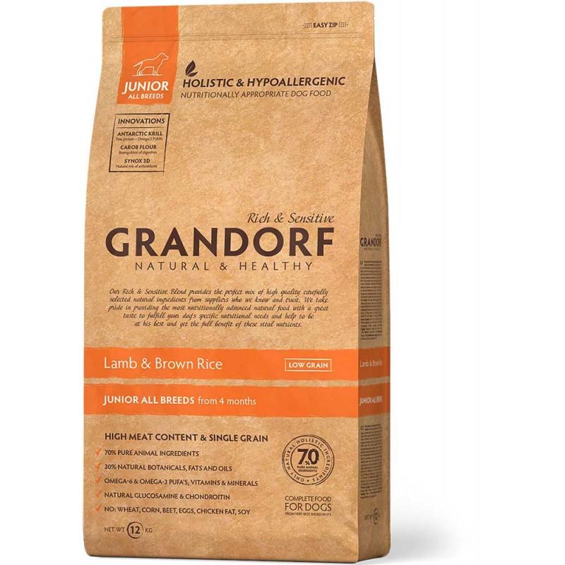 Сухой корм для собак Grandorf Junior Lamb&Rice 3 кг