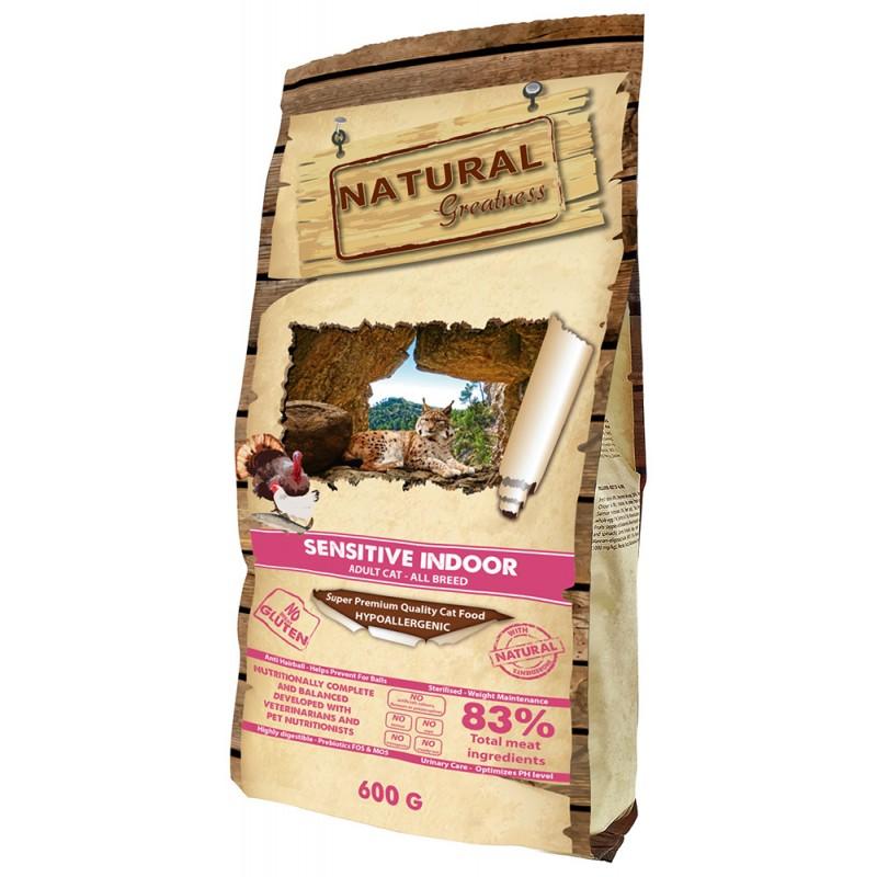 Сухой корм для кошек Natural Greatness Sensitive Indoor Recipe 0,6 кг