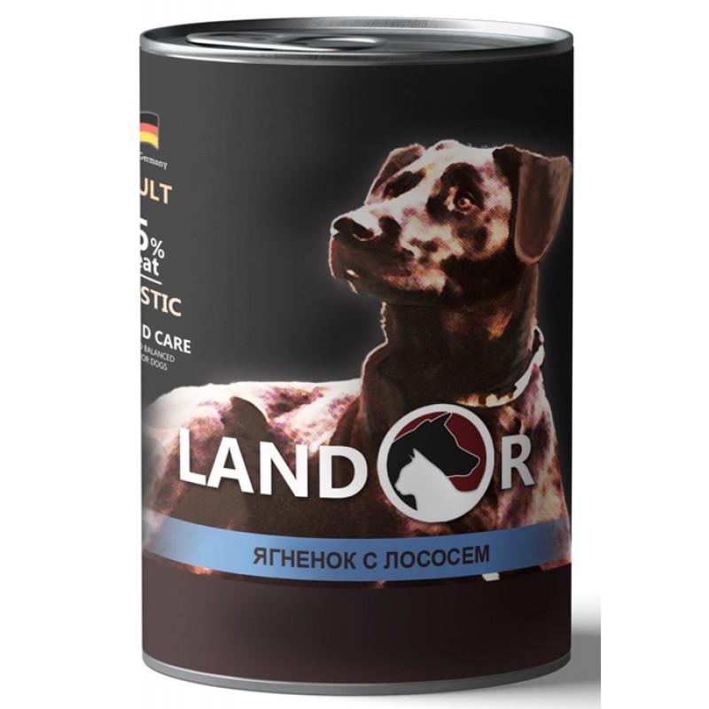 Влажный корм для собак Landor Adult Lamb And Salmon ягненок с лососем 0,4 кг