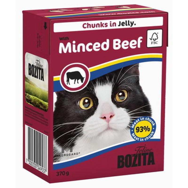 Влажный корм для кошек Bozita Feline Minced Beef кусочки в желе 0,37 кг