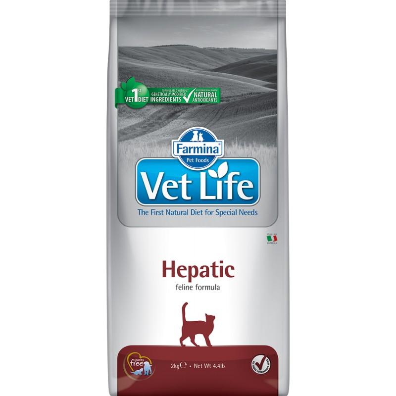 Сухой корм Farmina VET LIFE Feline Hepatic диета для кошек 2 кг