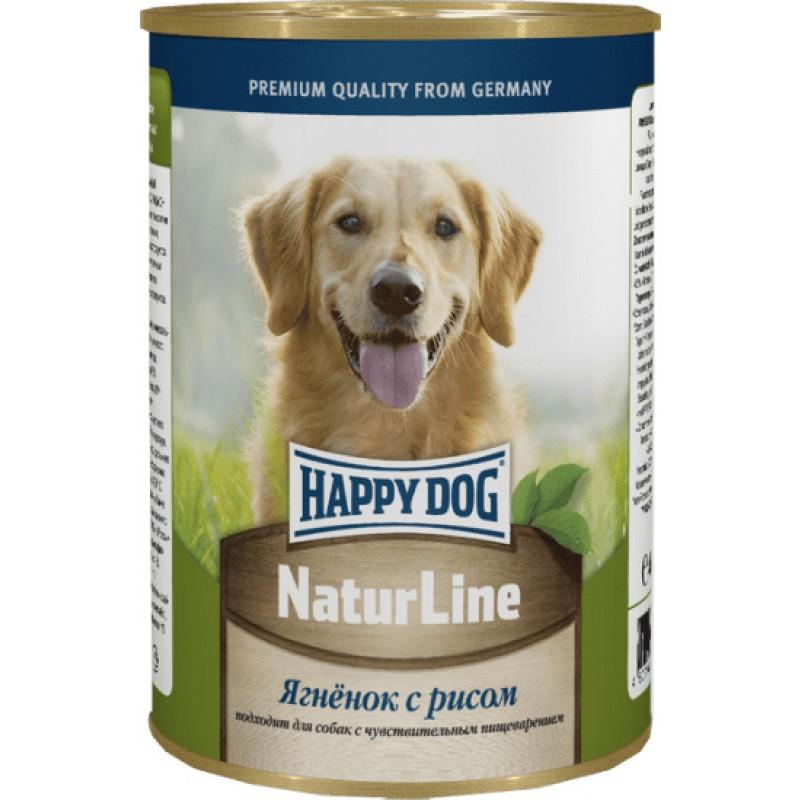 Влажный корм для собак Happy Dog ягненок с рисом 0,4 кг