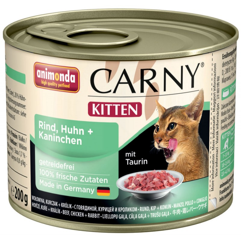 Влажный корм для котят Animonda Carny Kitten Chicken and Rabbit 0,2 кг