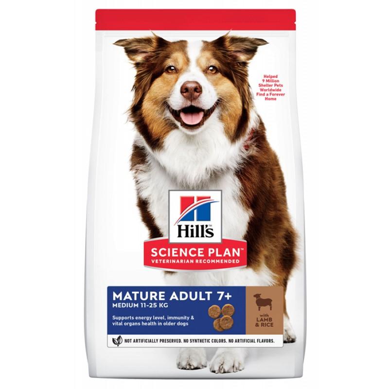 Сухой корм для собак Hills Science Plan Mature Adult 7+ Lamb & Rice 12 кг