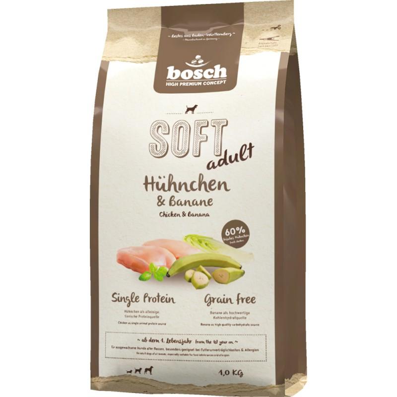 Полувлажный корм для собак Bosch Soft с курицей и бананами 1 кг