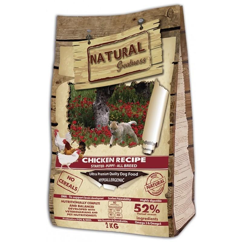 Сухой корм для щенков Natural Greatness Chicken Recipe Starter Puppy Junior 2 кг
