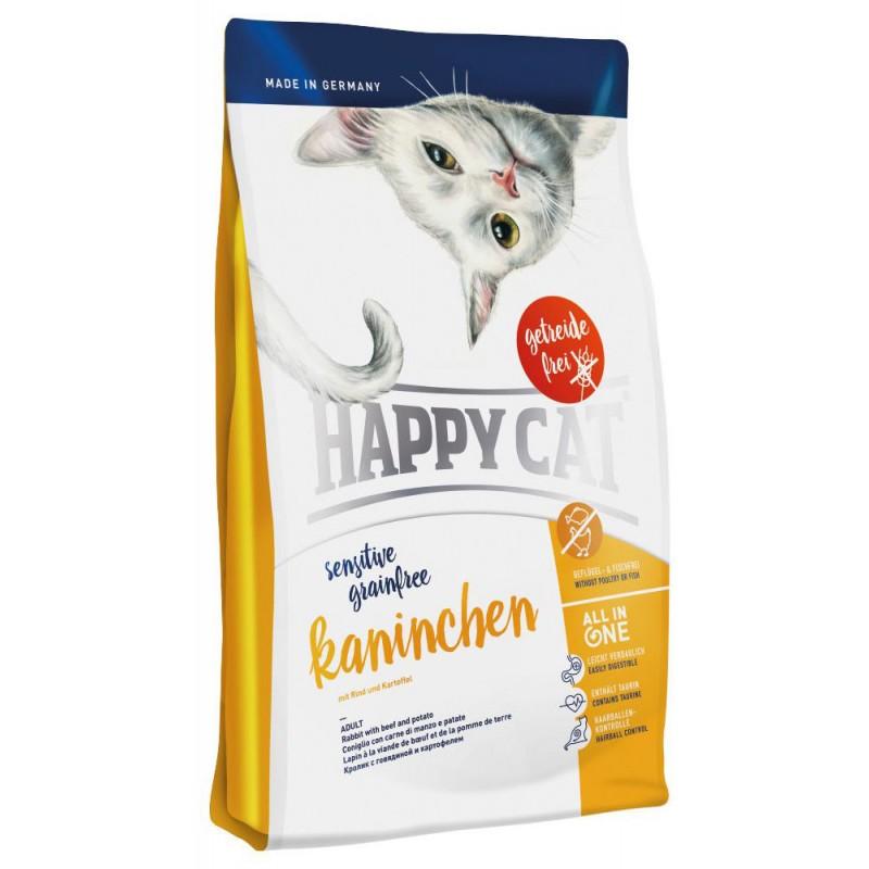 Сухой корм для кошек Happy Cat Sensitive с кроликом 0,3 кг
