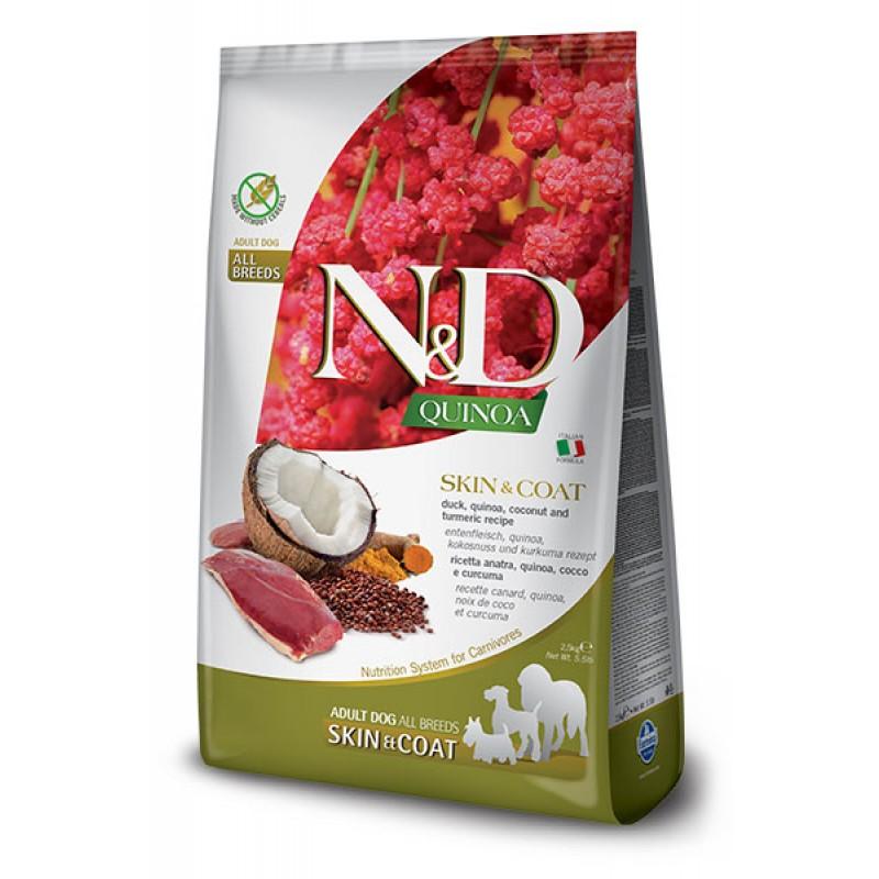 Сухой корм для собак Farmina N&D Quinoa Skin & Coat беззерновой с уткой и киноа 2,5 кг