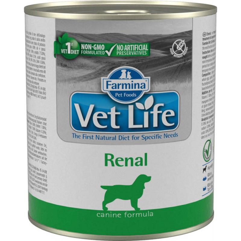 корм Farmina Vet Life Natural Diet Renal паштет диета для собак 0,3 кг