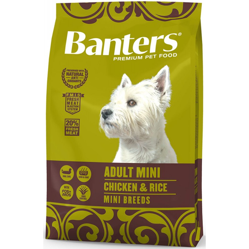 Сухой корм для собак Banters Adult Mini курица с рисом 3 кг