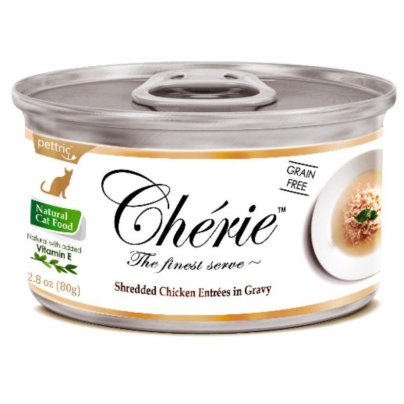 Влажный корм для кошек Pettric Cherie с курицей в подливе 0,08 кг