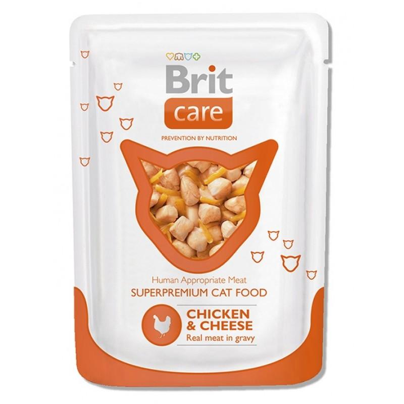 Влажный корм для кошек Brit Chicken&cheese 0,08 кг