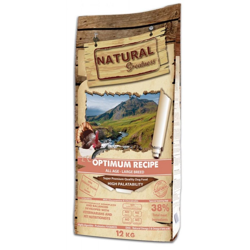 Сухой корм для собак Natural Greatness Optimum Recipe Large 12 кг