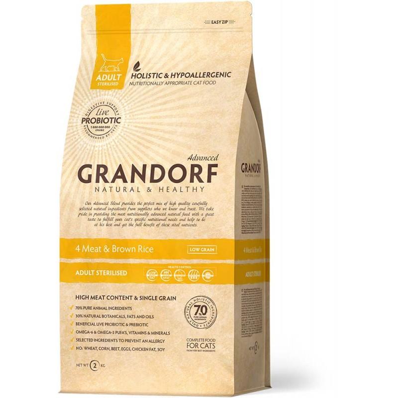 Сухой корм для кошек Grandorf Probiotic Sterilised 2 кг
