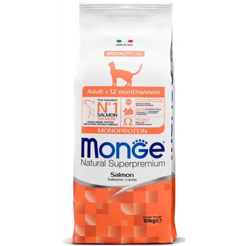 Сухой корм для кошек Monge Cat с лососем 10 кг