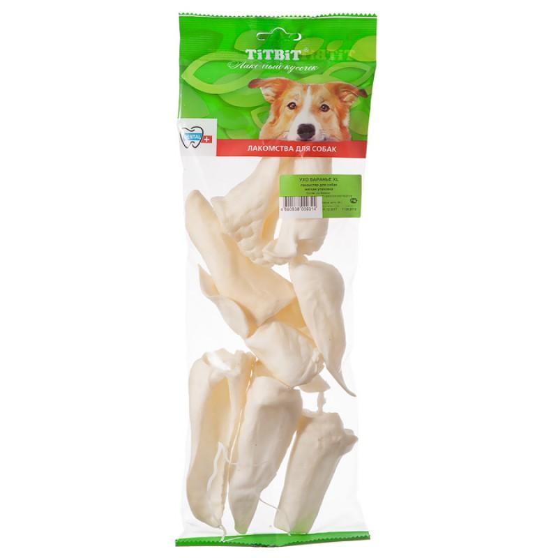 Лакомство для собак Titbit Ухо баранье XL 0,065 кг