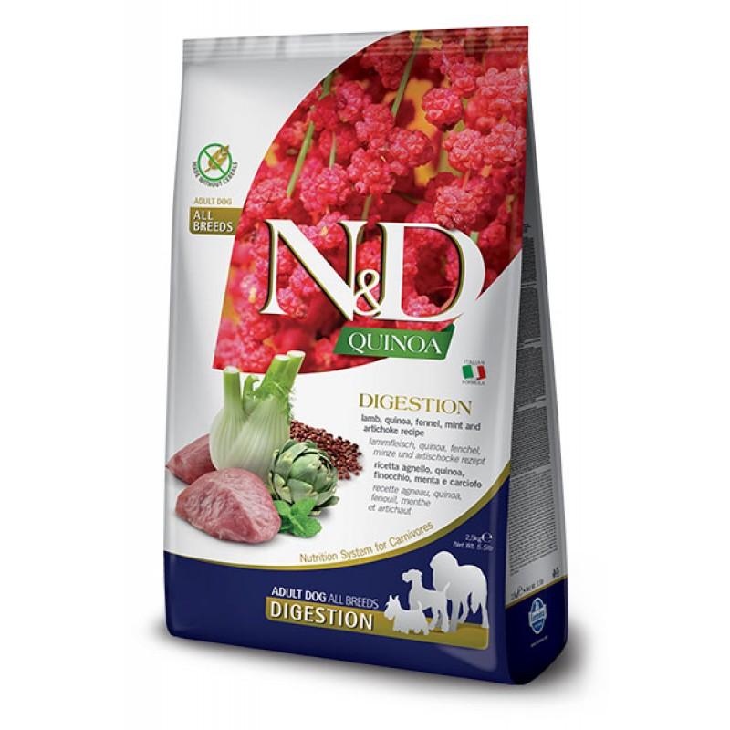 Сухой корм для собак Farmina N&D Quinoa Digestion беззерновой с ягненком и киноа 2,5 кг