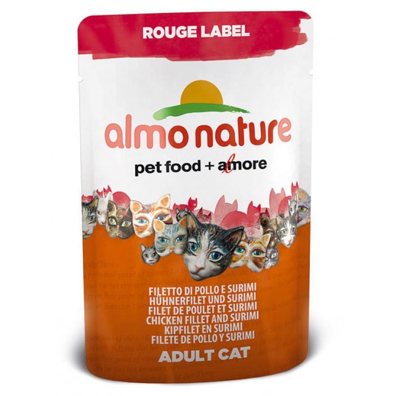 Влажный корм для кошек Almo Nature Rouge Label Adult Cat with Chicken Fillet and Surimi 0,055 кг