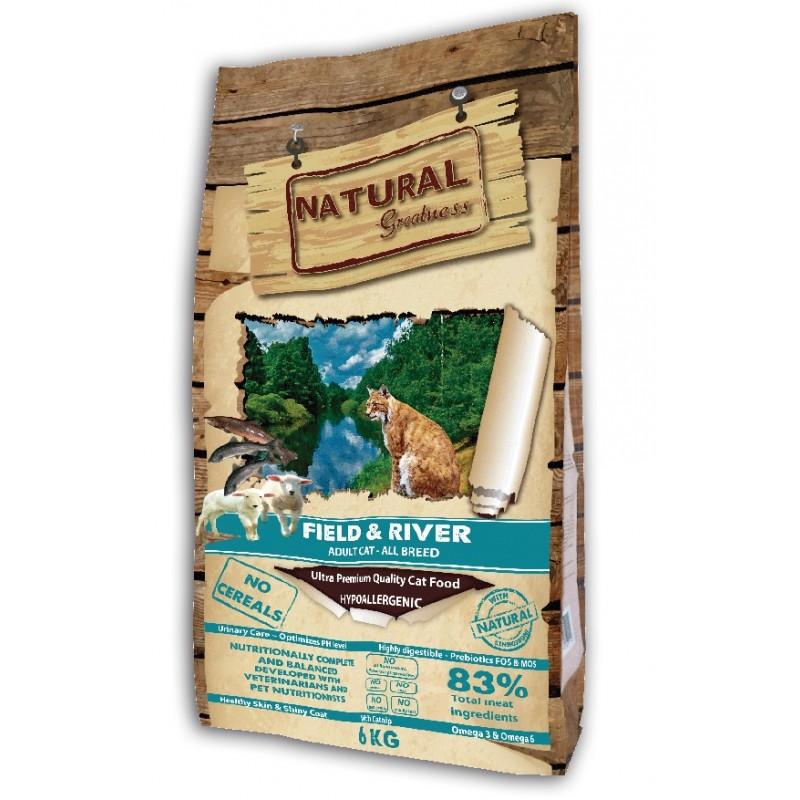 Сухой корм для кошек Natural Greatness Field & River Recipe 6 кг