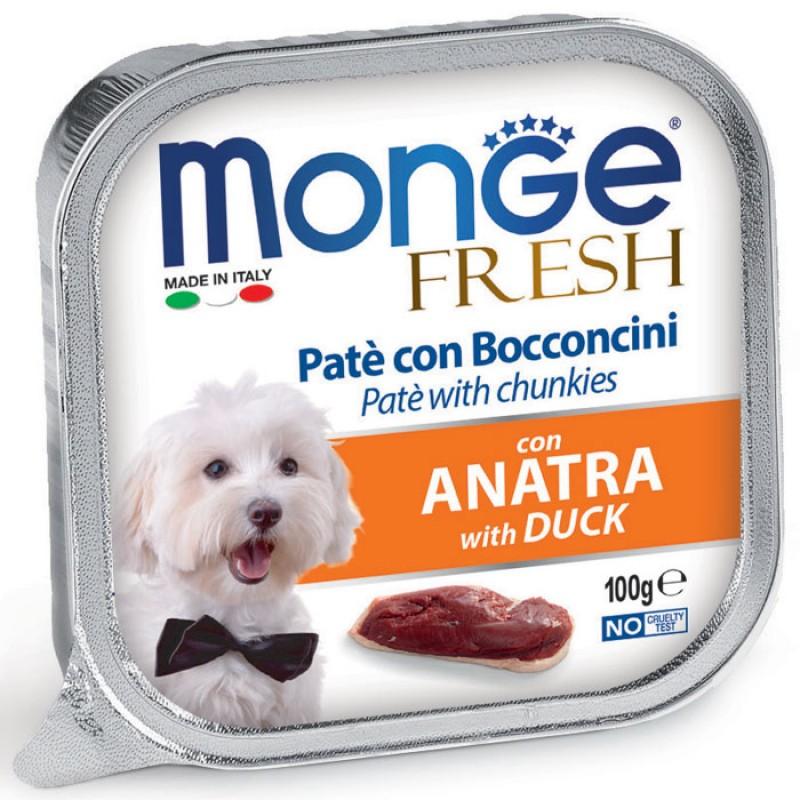 Влажный корм для собак Monge Fresh утка 0,1 кг