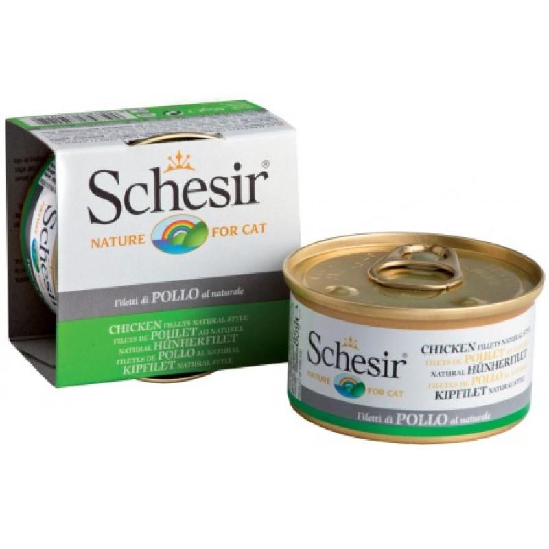Влажный корм для кошек Schesir Nature Chicken fillet natural style 0,085 кг