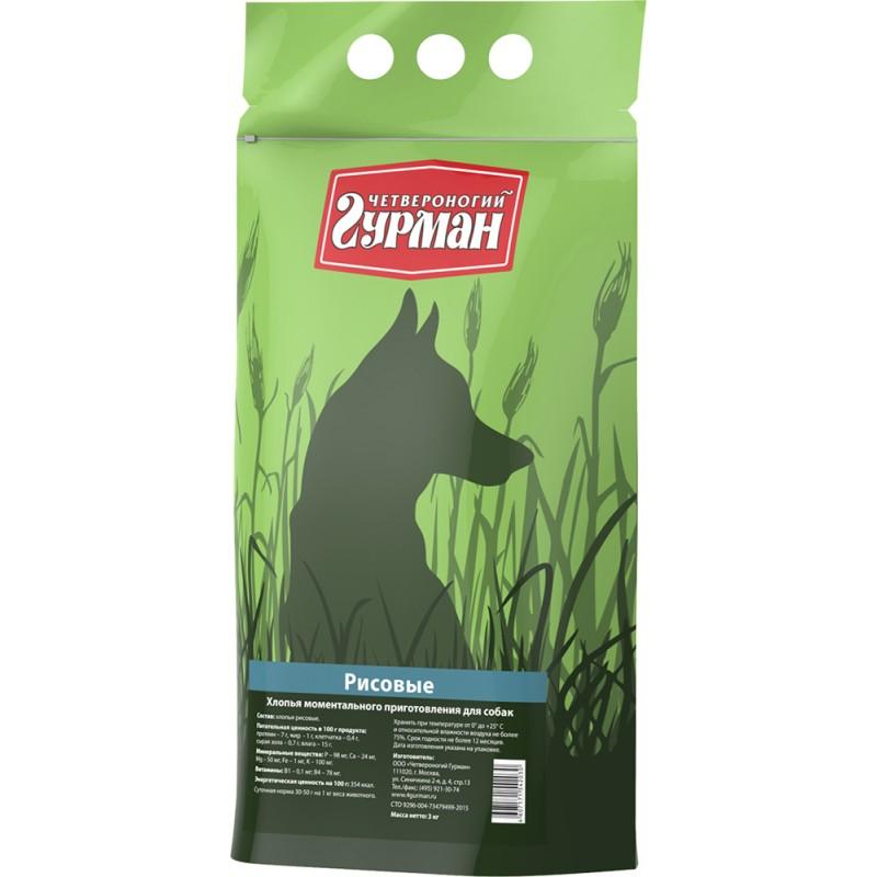Каша для собак Четвероногий Гурман рисовая в пакете 3 кг