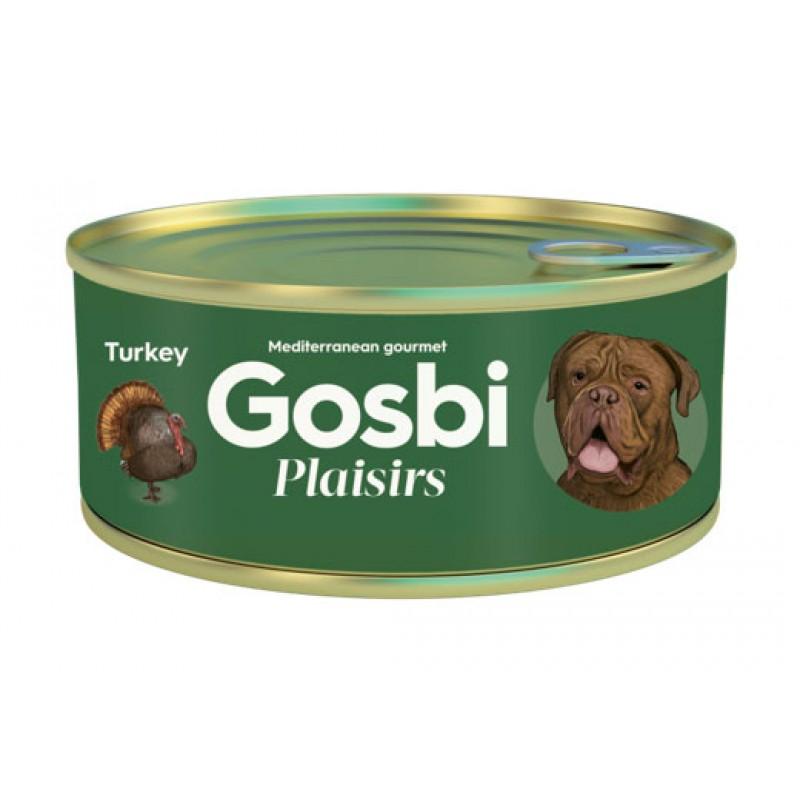 Влажный корм для собак Gosbi Plaisirs Turkey с индейкой 0,185 кг