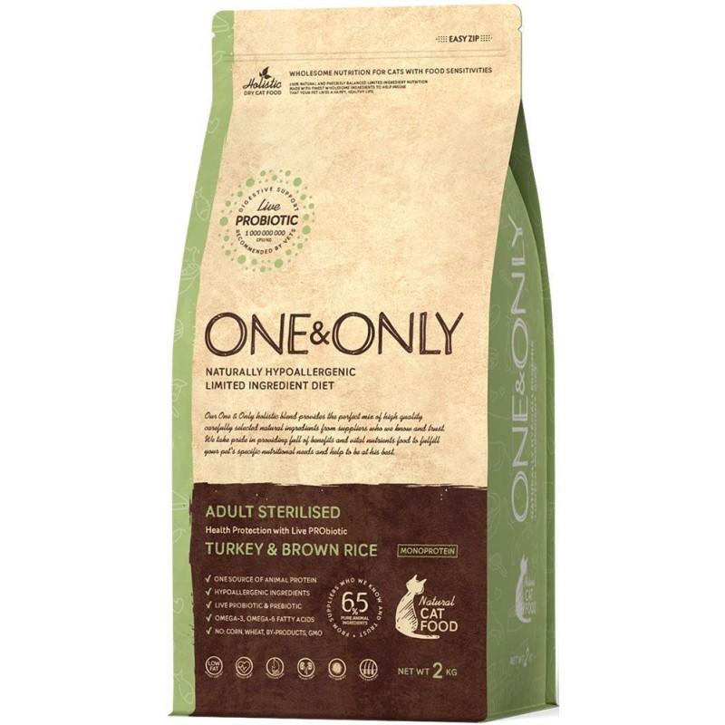Сухой корм для кошек One&Only Turkey & Rice Adult Sterilised 2 кг