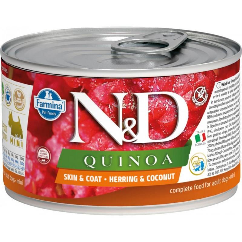 Влажный корм для собак Farmina N & D Quinoa Herring & Coconut Mini с сельдью, киноа и кокосом для маленьких пород 0,14 кг