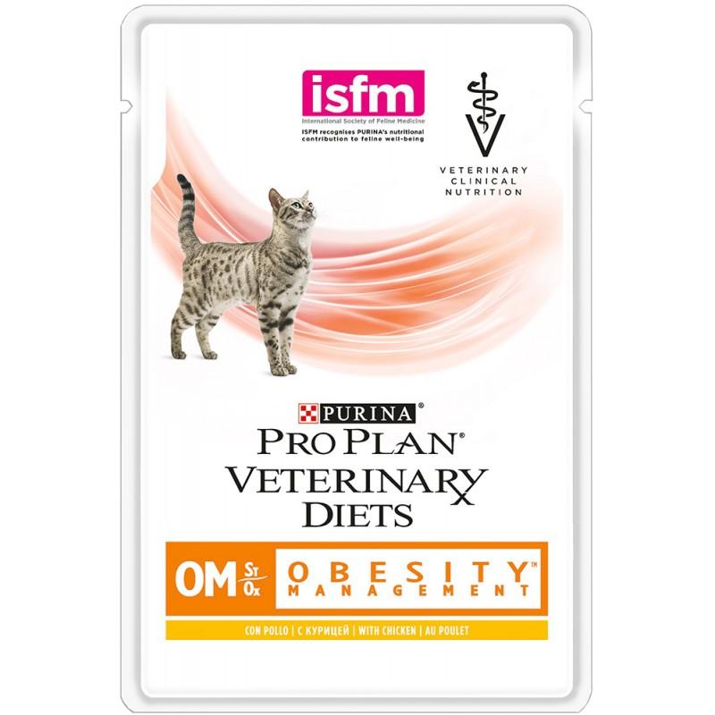Влажный корм Purina Pro Plan Vet Diet Feline OM пауч диета для кошек 0,085 кг