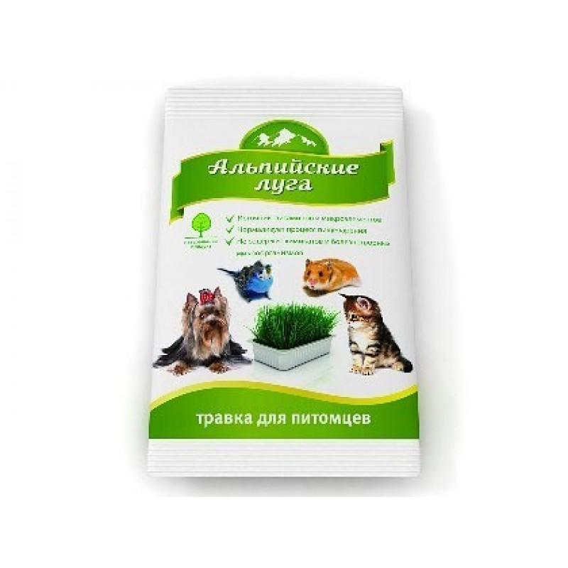 Лакомство для кошек Альпийские Луга Травка пакет 0,1 кг