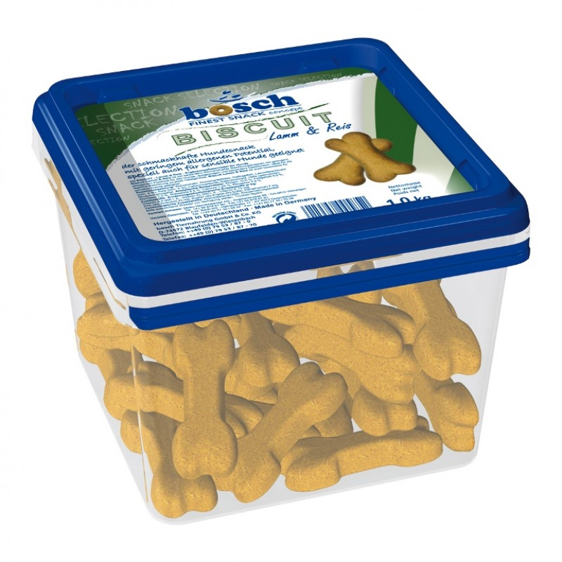 Лакомство для собак Bosch Biscuit Lamb & Rice 1 кг