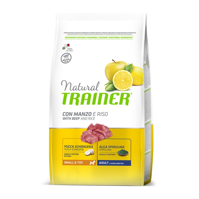 Сухой корм для собак Trainer Natural Small & Toy with Beef and Rice 2 кг