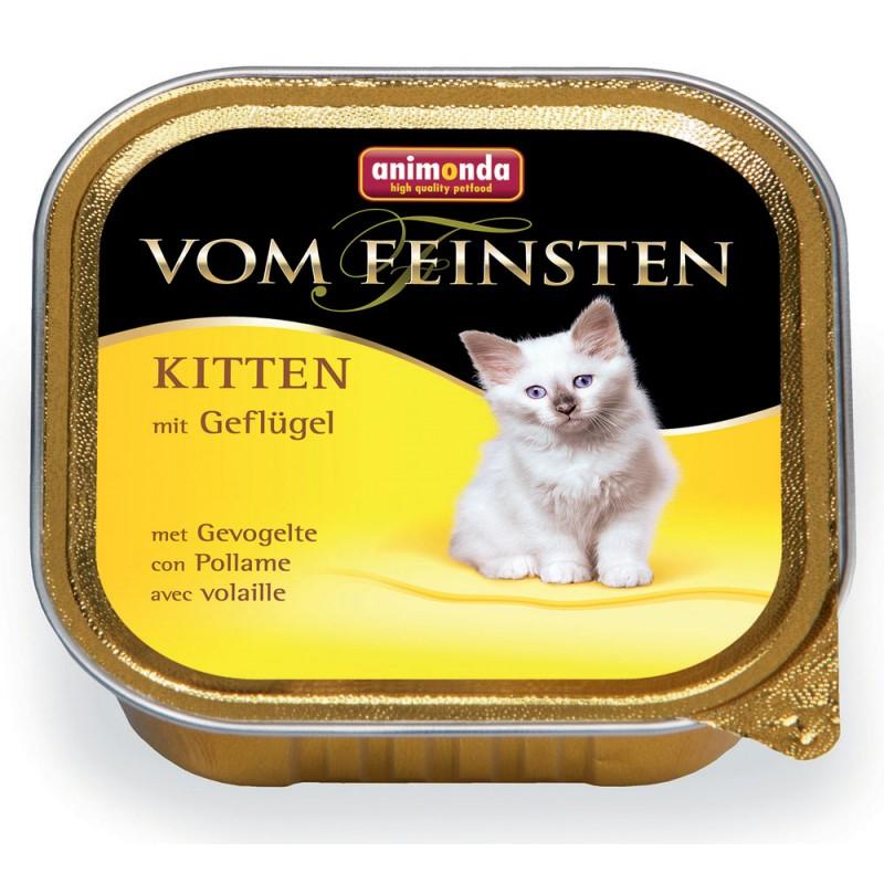 Влажный корм для котят Animonda Vom Feinsten Kitten с домашней птицей 0,1 кг