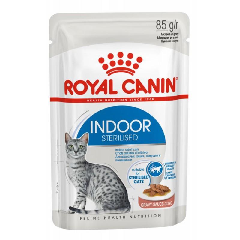 Влажный корм для кошек Royal Canin Indoor Sterilized в соусе 0,085 кг