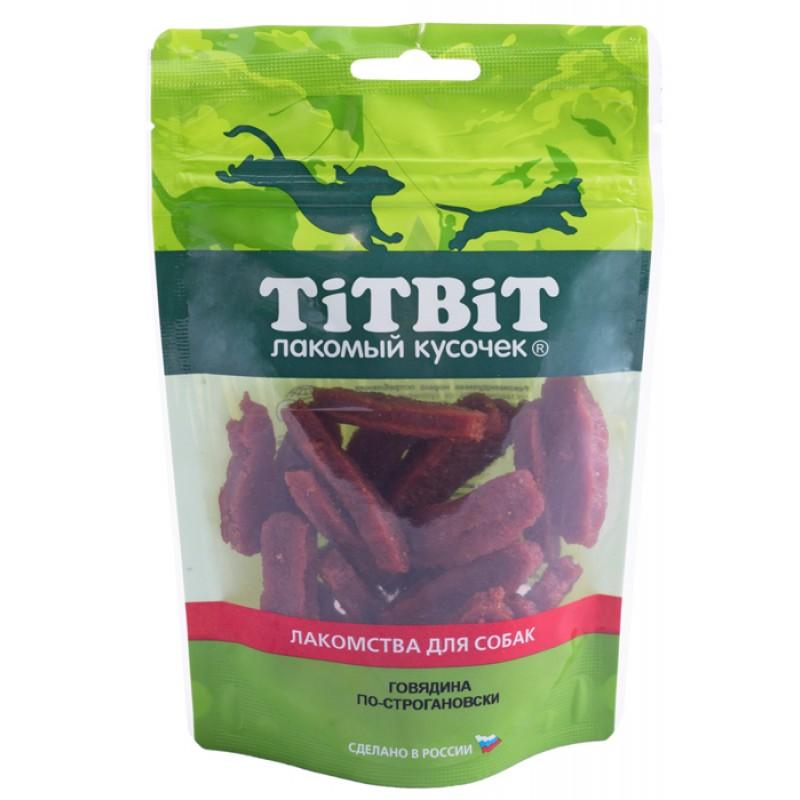 Лакомство для собак Titbit Говядина по-строгановски 0,08 кг