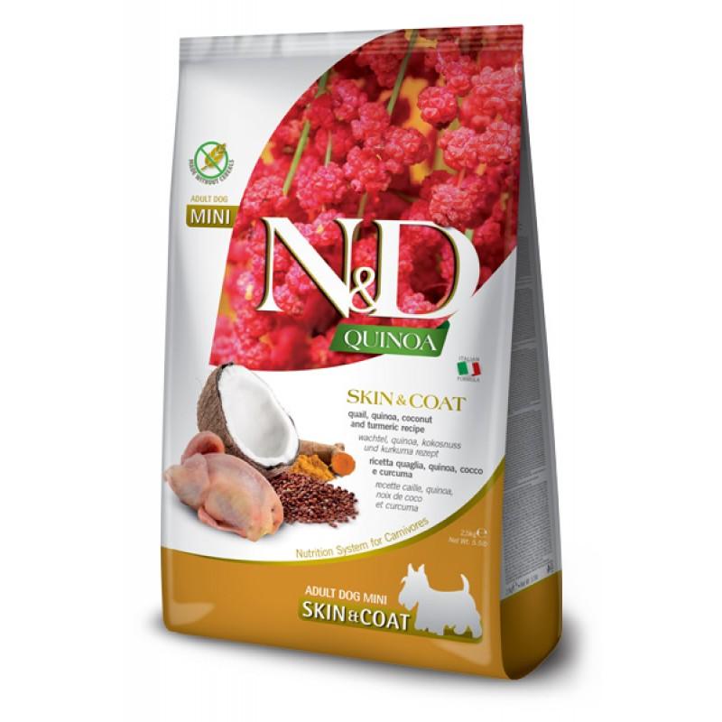 Сухой корм для собак Farmina N&D Quinoa Skin & Coat Mini беззерновой с перепелом и киноа 2,5 кг